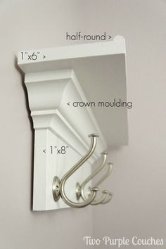 Check it out Make your own wall shelf for bedroom, bathroom, kitchen or entryway! DIY shelf with hooks via www.twopurplecouc… The post Make your own wall shelf for bedroom, bathroom, kitchen or entryway! DIY shelf w… appeared first on Etty Hair Saloon . Wall Shelf With Hooks, Diy Wall Shelves, Shelving Ideas, Shelf Ideas, Decorative Shelves, Storage Ideas, Wood Shelf, Coat Rack With Shelf, Floating Shelves