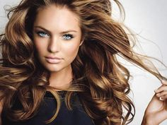 I absolutely love everything about this. Chestnut colored hair with honey and caramel highlights. I love the style and volume. Pretty much I wish my hair looked like this everyday. Big Hair don't care :)