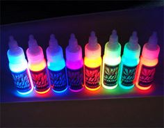 Black light tattoo ink ------- definatley need to get atleast one with this ink!