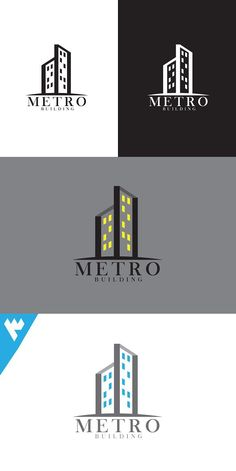 Metro Building Logo Building Logo, Logo Real, Monogram Logo, Logo Design Inspiration, Be Yourself Quotes, Logo Branding, Design Projects, Custom Design, Golden Ratio