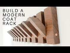 This tutorial will show you how to build a modern coat rack. This modern coat rack design made from Black This tutorial will show you how to build a modern coat rack. This modern coat rack design made from Black Coat Storage, Diy Coat Rack, Rustic Coat Rack, Coat Racks, Diy Coat Hooks, Modern Coat Hooks, Wood Coat Hanger, Wooden Coat Rack, Woodworking Jigs