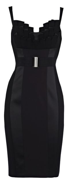 Karen Millen Fitted Frill Dress | The House of Beccaria~