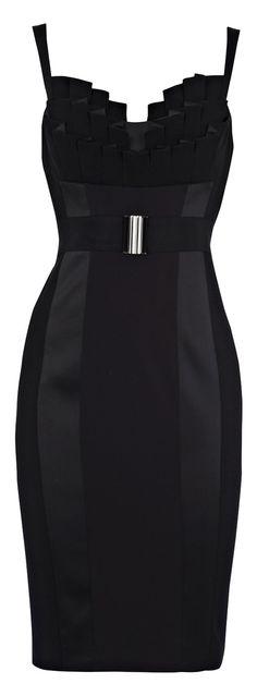 Karen Millen Fitted Frill Dress