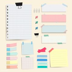Colorful blank paper notes vector set | free image by rawpixel.com / Chayanit Journal Stickers, Planner Stickers, Memo Notepad, Cute Christmas Wallpaper, Note Doodles, Notes Design, Banners, Good Notes, Note Paper