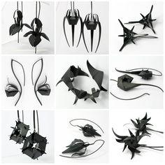 Earrings (patinated silver) - by Mimikra.com / Kinga Sulej