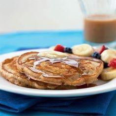Whole Wheat Buttermilk Pancakes Recipe | MyRecipes.com