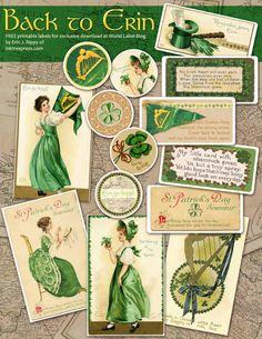 Free Vintage Labels for St Patricks Day at blog.worldlabel.com