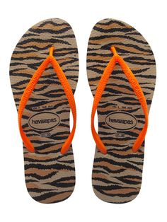79f36d2fa Havaianas Slim Animals Fluo Rose Gold - Do you like tigers  These Slim  Animals Fluo Rose Gold havaianas remind is of Tigers. The soft soles and in  a pattern ...
