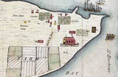 Detail of map of the settlement at Sydney Cove Port Jackson April 1788