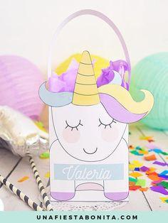 Cajitas para imprimir Unicornio Mágico – Una Fiesta Bonita
