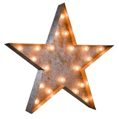 "24"" Vintage Marquee Star Light - $229 Est. Retail - $209 on Chairish.com"