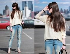 Sequined Sweater (by Tatiana S) http://lookbook.nu/look/4752057-Sequined-Sweater