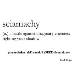Who knew there was a word for this?!  Lol interesting