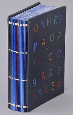 Beautiful blue handmade book - Nobel Museum Bookbinding Exhibition 2012 - Tomas Tranströmer