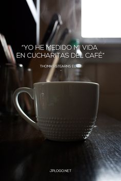 Una #foto con frase para los amantes del #café