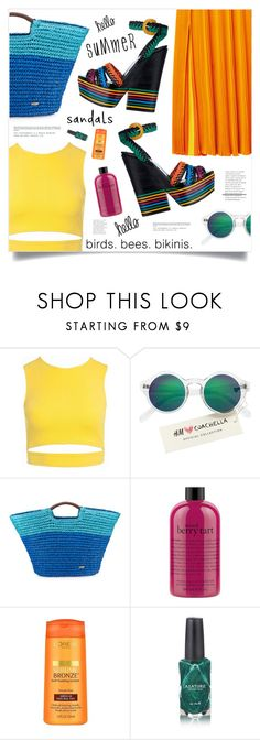 """""""Summer Fun"""" by marina-volaric ❤ liked on Polyvore featuring Sans Souci, H&M, Cappelli, philosophy, L'Oréal Paris, Azature and summersandals"""