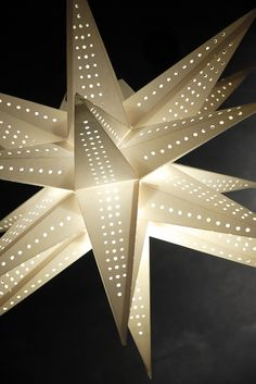 Multi Point Star Lanterns - Imagine how pretty a bunch of these would look! perhaps hanging at a wedding reception! Star Lanterns, Paper Lanterns, Reception Decorations, Christmas Decorations, Save On Crafts, Paper Stars, Led, String Lights, Light Up