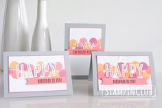 Stampin' Up!, StampinClub, Feierstimmung, Happy Celebrations, Open Hause, Make & Take