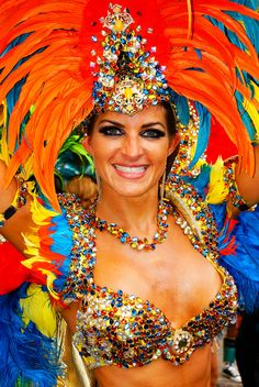 A feathered carnival masquerader. Port-Of-Spain, #Trinidad and #Tobago