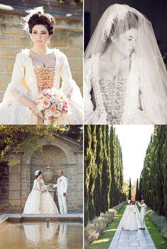 A fabulous real-life Marie Antoinette themed wedding - so inspiring! Via langhamhuntingtonweddings.com
