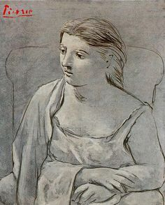 Woman in white, 1923  Pablo Picasso ~Repinned Via Mary S