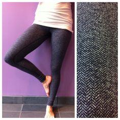 22ecfd31d3 Lululemon - Wunder Under Pant - size 8 - Heathered black swan herringbone