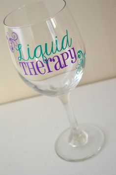 Liquid Therapy Wine Glass  20oz by AnchorAvenueDesigns on Etsy, $9.00 #Liquidtherapy #wine #girlsnight