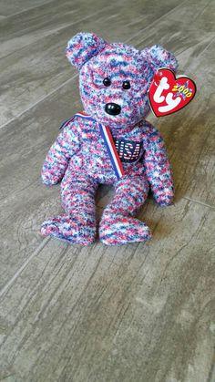 Bucky The Beaver Rare Ty Beanie Baby Pvc Pellets No