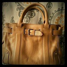 Charles David Handbag Charles David leather handbag with gold buckle. A classic purse. Gently used. Charles David Bags Totes