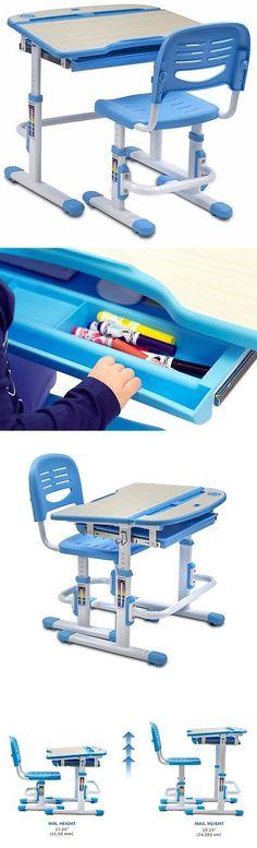 Desks 115750: Mount Children S Desk And Chair Set Kids School Workstation Adjustable Height -> BUY IT NOW ONLY: $140.83 on eBay!