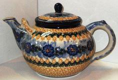 Polish Pottery Extra Large Tea Pot