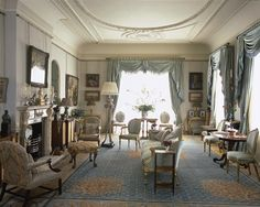 Morning Room at Clarence House... the house is located in London in the city of Westminster. For over 50 years it was the residence of the Queen Mother. The house was commissioned by William IV and built between 1825~1827 by John Nash.