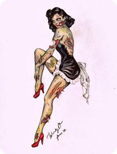 I ❤ zombies :) this is so going to be my next tattoo along with my other zombie pin ups :)