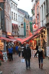Cosy streets in Brussels