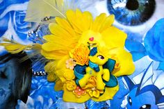 Yellow My Little Pony Fascinator (Lemon Hearts), Geeky, Princess, Yellow Hair Clip, Kawaii, Yellow Hair Flower, Decora, Lolita, Cosplay,