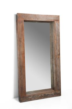 Beam Mirror made from reclaimed Peroba Rosa wood