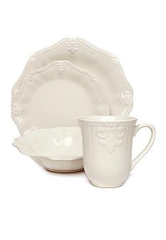 Home Accents® Luca Cream I got new dishes ) (no cups \u0026 i  sc 1 st  Pinterest : home accents dinnerware - pezcame.com