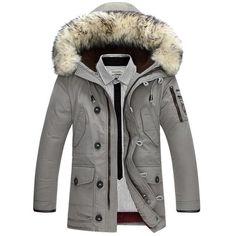 Men's Ewe-Back 100% Wool Fur Collar Hooded