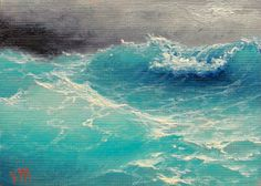 The Ocean  ACEO  original oil painting. by vladimirmesheryakov, $79.99