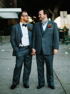 Gay Wedding Inspiration || Grooms || Photo by Elm&Co || LoveElm.com  #wedding #photography