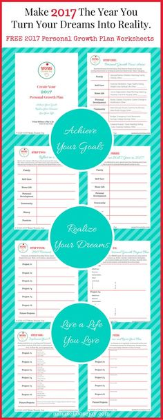 Set goals for 2017 for what matters most. This free 7-Step Personal Growth Plan Printable designed for busy moms will show you how to make 2017 the year you achieve your goals, turn your dreams into reality, and live a life you love!