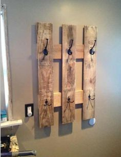 Next project, pallet towel hanger( or jewelry, coats, whatever)