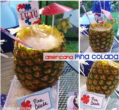 Eye Candy Event Details: {AMERICANA PINA COLADA} 4th of July drink recipe