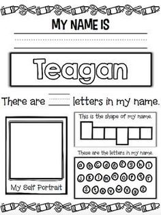 Name Activity Editable Freebie {Perfect for Back to School} Name Activity Editable Freebie {Perfect for Back to School} - Kindergarten Lesson Plans Kindergarten Names, Preschool Names, Kindergarten Lesson Plans, Preschool Learning, Kindergarten Classroom, Kindergarten Activities, Kindergarten Name Activities, Name Writing Activities, Preschool Writing