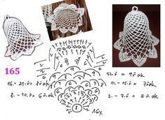 Best 10 zvonek s popisem 155 – SkillOfKing. Crochet Fairy, Crochet Ball, Crochet Angels, Thread Crochet, Crochet Diagram, Crochet Motif, Diy Crochet, Crochet Doilies, Crochet Flowers