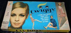 Twiggy game from Milton Bradley Twiggy Model, Board Game Box, Bored Games, Doll Games, Dice Box, Milton Bradley, Games Box, Vintage Games, Game Pieces