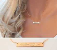 Sound Wave Necklace Baby Heartbeat EKG Baby by SimpleAndLayered