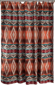 Mojave Sunset Southwestern Fabric Shower Curtain By Carstens Inc Captivating Tones Of Red Orange