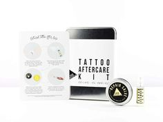 We know that petroleum-based skincare products suffocate the skin, potentially trapping bacteria and other nasties. Remember when you had a cut left the triple-antibiotic ointment on too long and your would become soft, almost soggy? So why in the world are these products still part of the traditional tattoo aftercare?! In the Tattoo Aftercare Kit, you will find none of that. Our Repair Salve is made of beeswax (it creates a BREATHABLE protective layer), organic herbal-infused oils and…