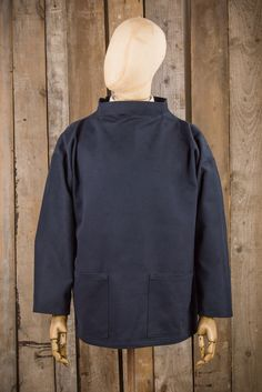 Wayside Flower Fishermans Smock - Navy - Outerwear - The Priory - 1